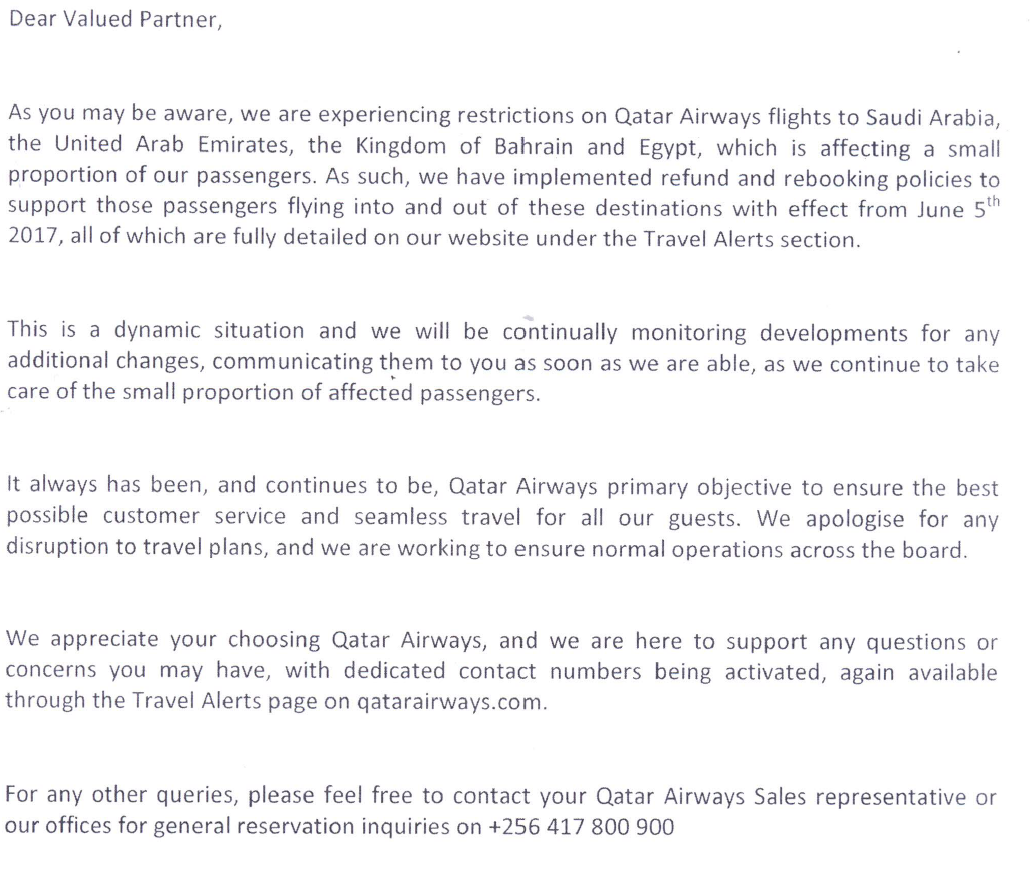 Qatar Airways leaves no stone unturned in dealing with the GCC