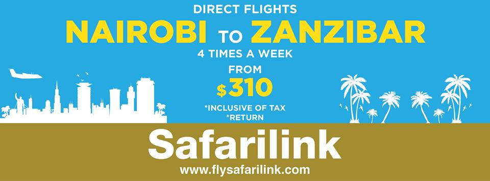 Kenya's Safarilink will get you there ...