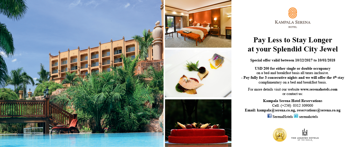 The Kampala Serena Hotel - a jewel in the heart of the city ...