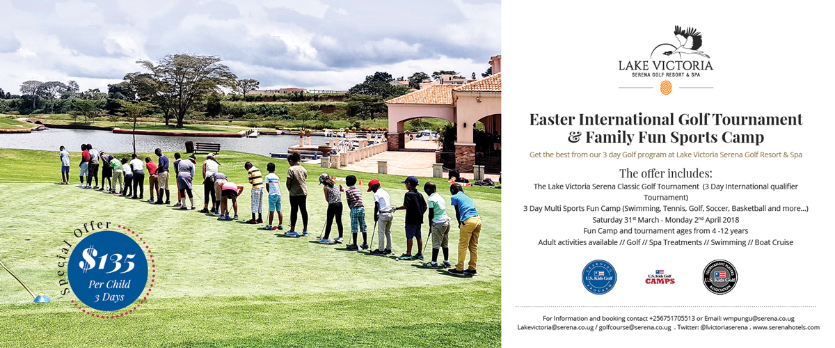 Keen on golf or have your kids take up the game? This offer from the Lake Victoria Serena Golf Resort & Spa will  no doubt catch your eye ...