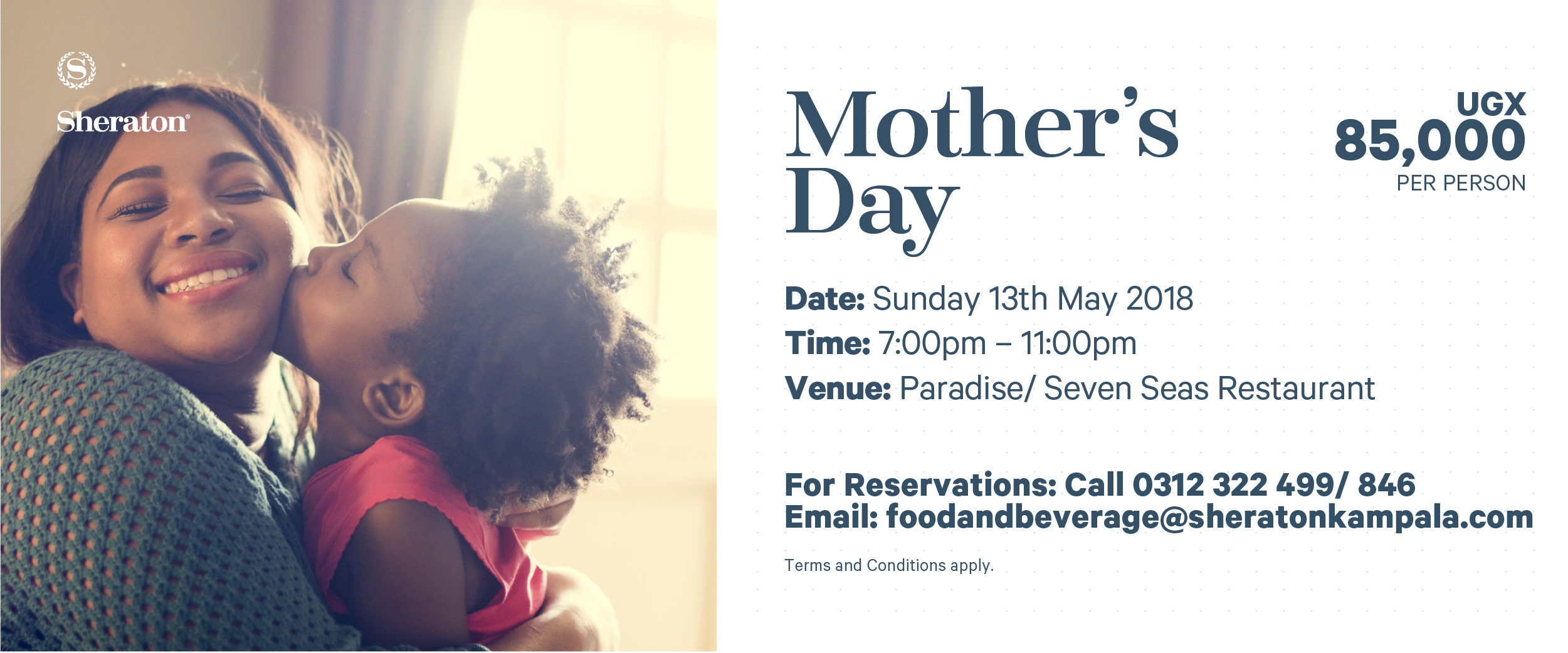 Take your mother to the Sheraton to celebrate her in style ...