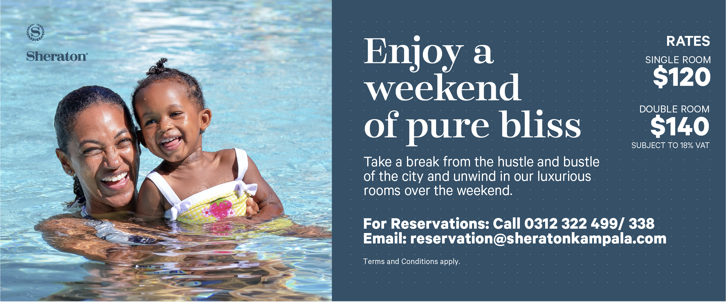 Try a weekend 'Staycation' at the Sheraton Hotel Kampala