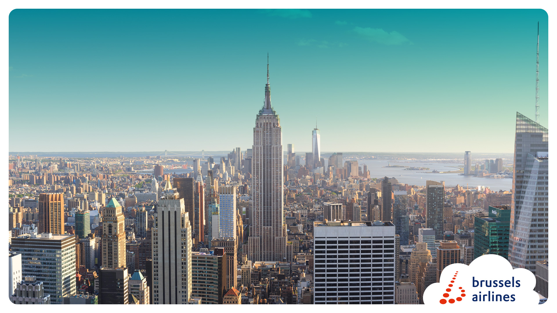 Daily from Entebbe via Brussels to New York while enjoying the 'Savoir Vivre' only Brussels Airlines can provide ...