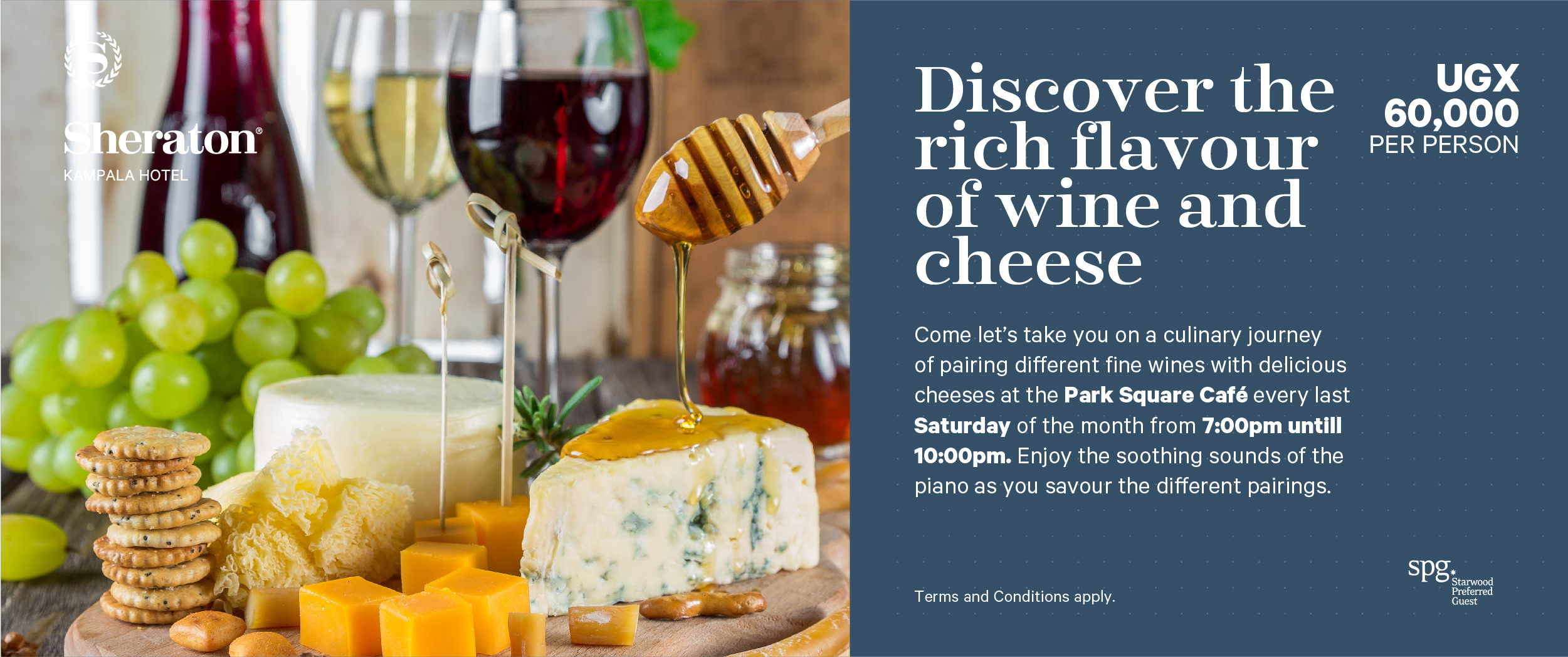 Wine and Cheese tastings - Best experienced in style at the Sheraton Hotel Kampala