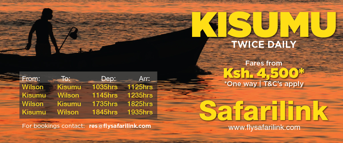 Now flying twice a day from Wilson Airport to Kisumu