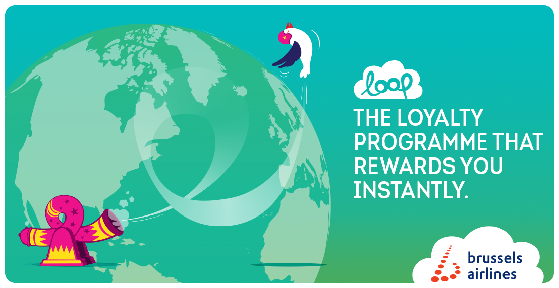Get instant rewards with Brussels Airlines 'Loop' loyalty programme