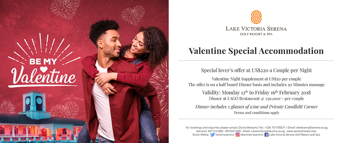 Take your Valentine to a romantic location right at Lake Victoria