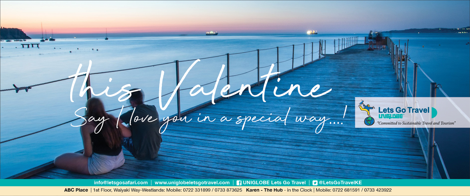 Make your travel arrangements for Valentine's Day with the people who know about travel ...