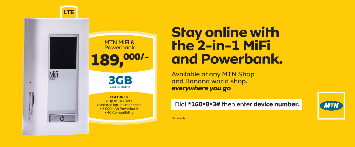 MiFi for home and away ... only from MTN Uganda