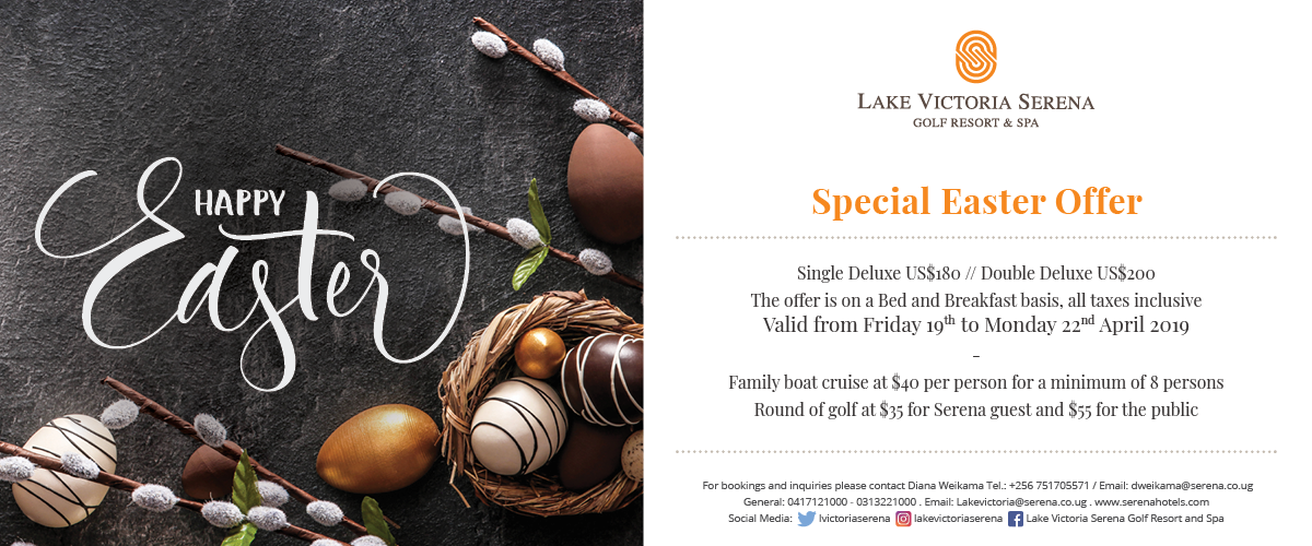The Lake Victoria Serena Golf Resort & Spa wishes you all a Happy Easter!