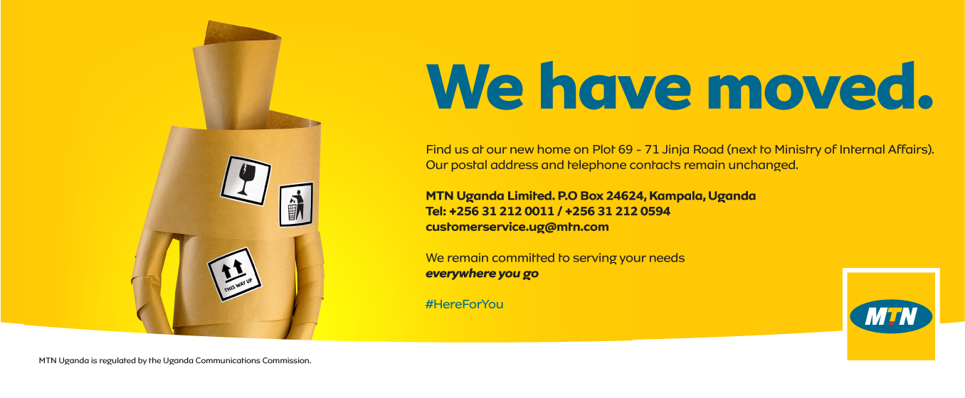 Take note of MTN Uganda's new address ...