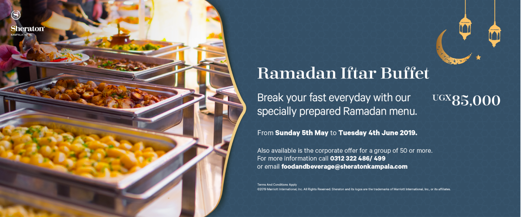 Enjoy secure and free parking when visiting the Kampala Sheraton Hotel for your Iftar meal ...