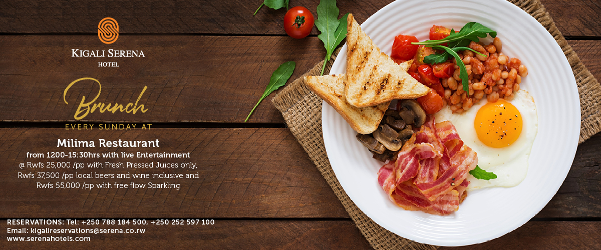 Enjoy a superb Sunday Brunch at the Kigali Serena Hotel
