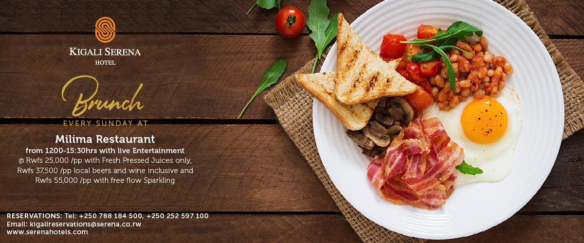 Enjoy a superb Sunday Brunch at the Kigali Serena Hotel