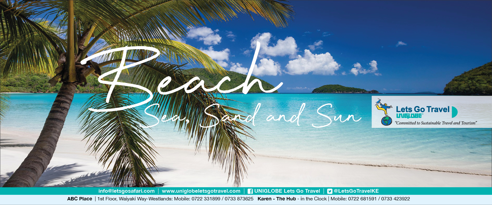 Lets Go Travel - your Sea, Sand and Sun specialist!