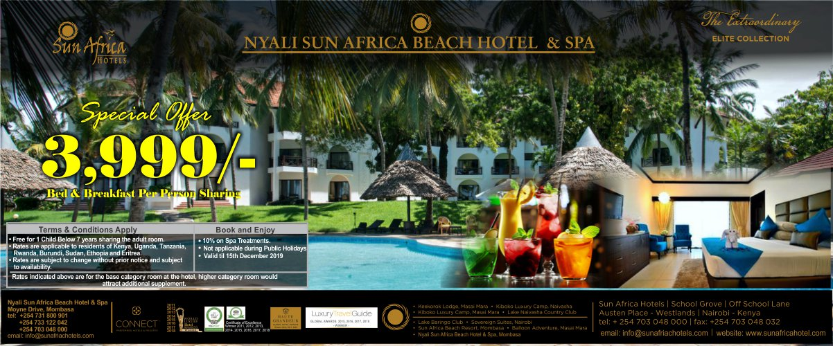 Mombasa's erstwhile beach resort - now available at a very special rate