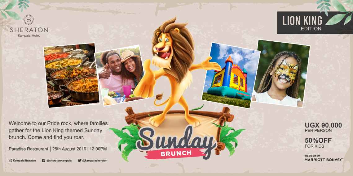 Enjoy free and safe parking when coming to the Sheraton for the Lion King Special Brunch this Sunday