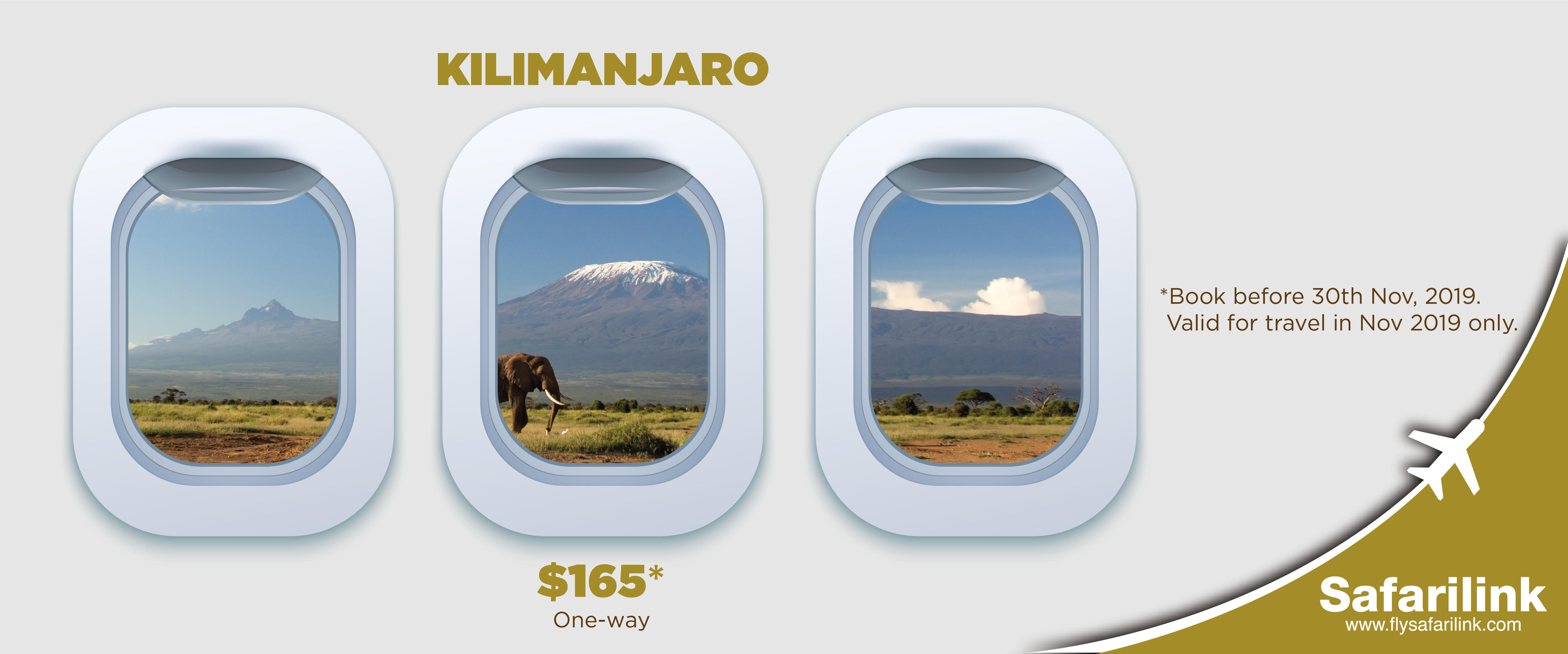 Flying you directly from Wilson Airport to Kilimanjaro