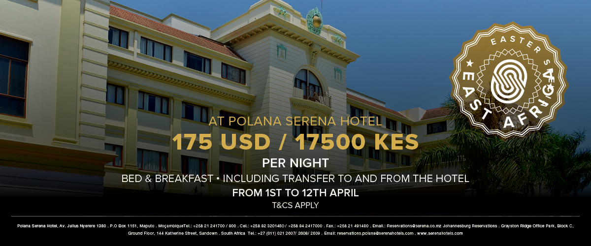 Get an Easter treat at the Polana Serena Hotel in Maputo / Mozambique