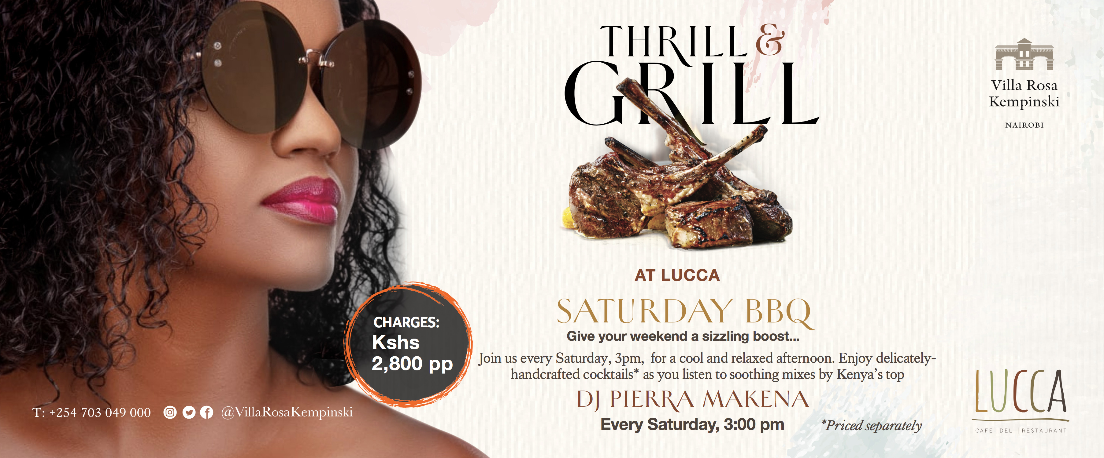 Thrill & Grill - Villa Rosa Kempinski's latest culinary food offerings