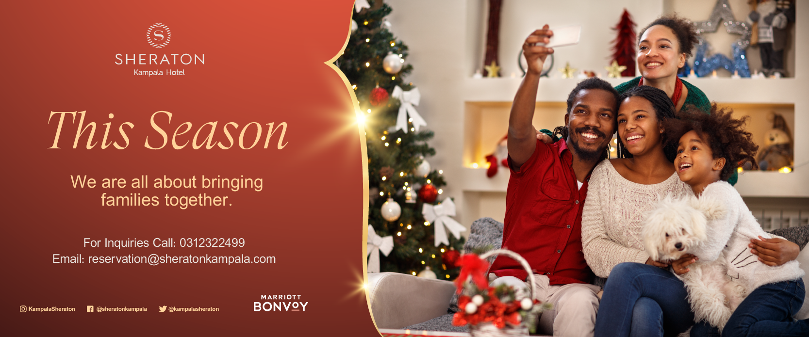 The Kampala Sheraton Hotel is ready to make the season memorable for you ...