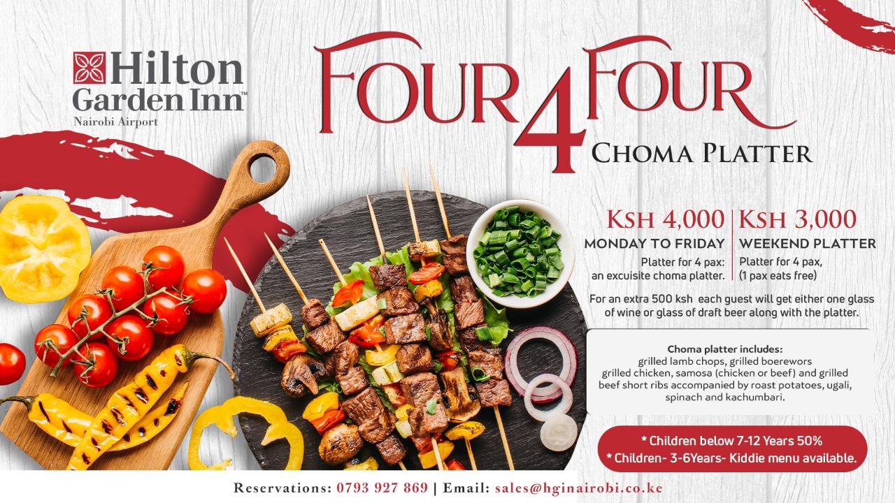 Enjoy Hilton Garden Inn's special Nyama Choma platter
