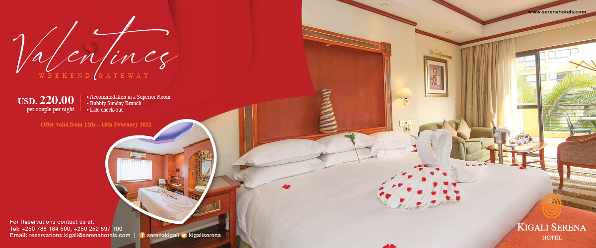 Celebrate Valentine's Day in style - at Kigali's best hotel