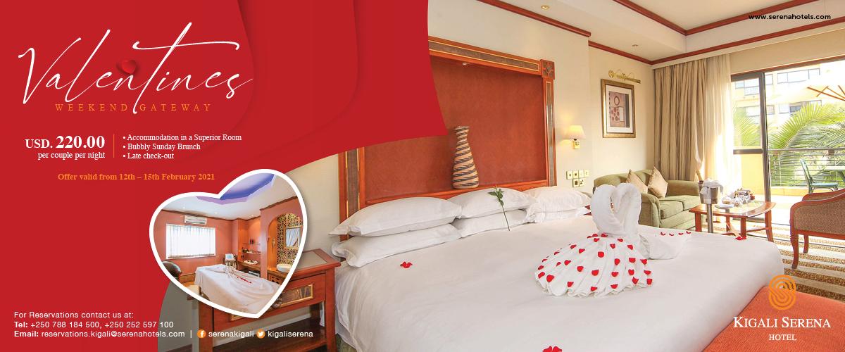 Celebrate Valentine's Day in style - at Kigali's best hotel