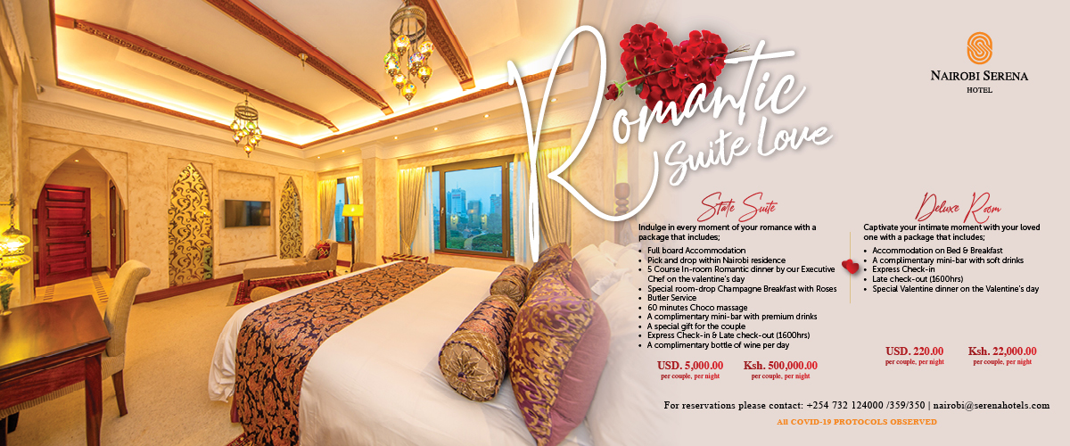 Nairobi's most exclusive Valentine's Deal - at the Nairobi Serena Hotel