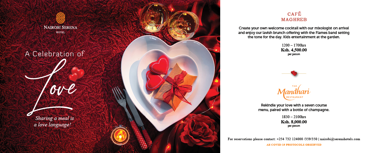 Love Is All You Need - and a great meal at the Mandhari or the Cafe Maghreb