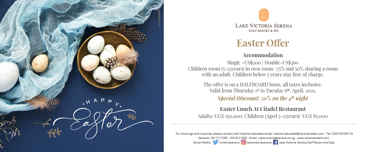 Enjoy Easter at the Lake Victoria Serena Golf Resort & Spa