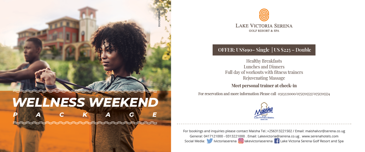 Time to look after yourself with a tailor made wellness weekend at the Lake Victoria Serena Golf Resort & Spa