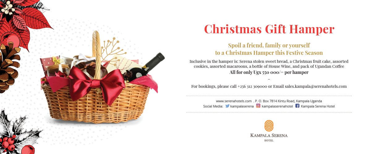 Get your perfect Christmas present at the Kampala Serena Hotel