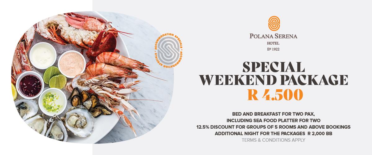 Enjoy a seafood weekend at the Polana Serena