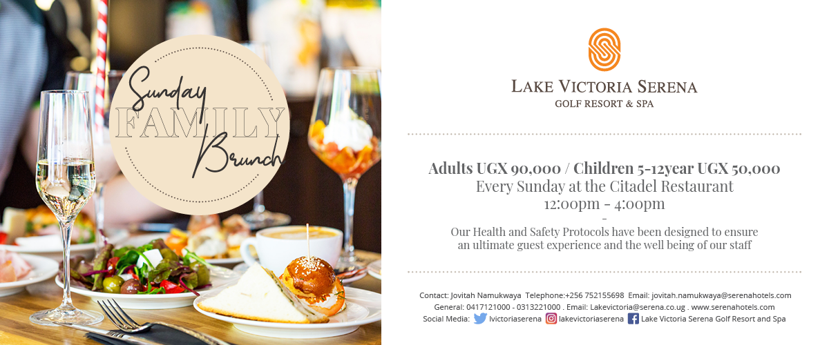 Enjoy a Sunday Brunch at the lake ...